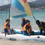 Kids off for a sail