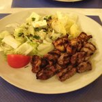 Brochette with two meats - lamb & chicken
