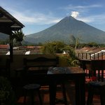 Our excellent view fot the volcano Agua