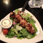 Salad with Turkey Kabob