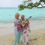 Ukulele ladies on the beautiful beach