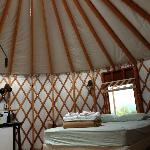 Yurt Interior - Two Additional Bunk Beds Not Pictured
