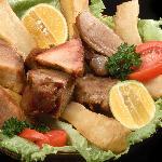 Fried pork / Gallos de chicharron