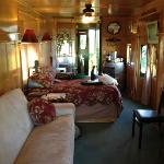 Interior of the Grape Escape caboose