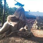 Sand sculptures exposition