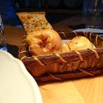 Basket of moreish breads - already well and truly sampled!