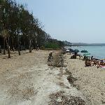 Spiaggia e vista camping...