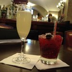 French 77 and Berry Caprioska in The Mint Bar at The Westin Hotel, Wesmoreland St