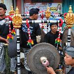 Gamelan during cremation ceremony