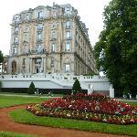 le grand hôtel, vue depuis le parc