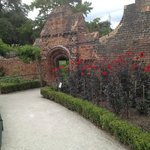 entrance to the Walled Garden. The perimeter wall was renovated.