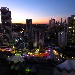 View of the lights and sunset from 2 bedroom ocean view