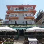 Hotel view and open air restaurant