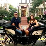 Carriage Ride that dropped us off back at the Gastonian