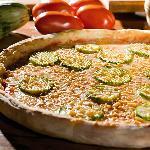 Pizza de abobrinha com alho!!!