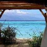 desde aqui un buen masaje con vista al mar