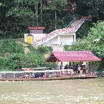 Site d'arrivée par voie fluviale