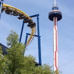 Carolina Skytower and Nighthawk roller coaster