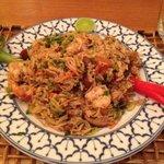 arroz com camarão e alho poró