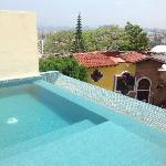 Private pool from our penthouse suite