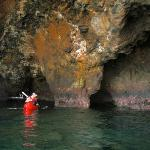 Inside a Sea Cave near Scorpion Anchorage on Santa Cruz Island