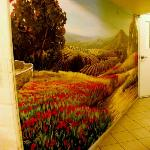 The other wall painting in the hallway on way to stairs