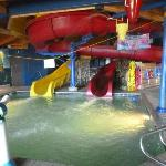 water park with 2 large slides