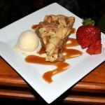 Apple pie with bourbon ice cream