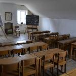 The school on the top floor of the church building