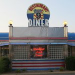 Classic diner inside and out