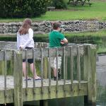 Kids on the dock