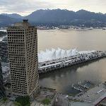 Canada Place vista desde la torre Vancouver Lookout