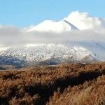 View of Mt Ngauruhoe form the room