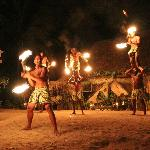 The final fire dance performance