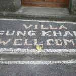 Entrance to villa