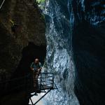 Narrow trail through the gorge