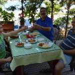 staff having breakfast