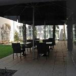Il bar sul giardino interno