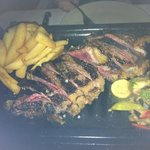 660 gram steak for two. it's still cooking when it arrives so order it medium rate to get medium