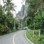 La strada che porta all'hotel