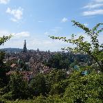 ベルン ばら公園からの眺望