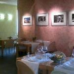 Interior con cuadros exposición