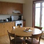 fully equipped kitchen with great view from table