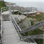 many fenced in walkways to make hiking safer