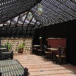 Outside seating under pergola