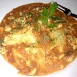 Fazzoletti e granchio. handkerchief Pasta with Lump crab meat in tomato - basil sauce=Heaven !