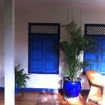 Blue shutters on every room