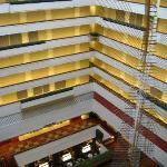 View of lobby from 10th floor corridor