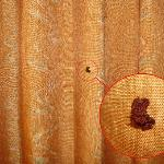 Brown something one curtain
