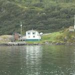 Picture from a boat of the B&B, we were going Whale watching